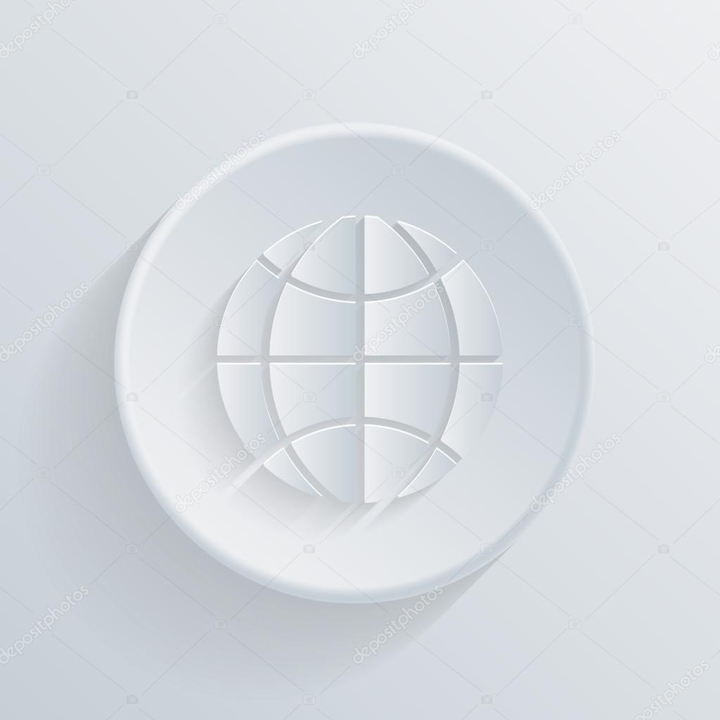 Symbol Of Globe Icon Stock Vector Littlecuckoo 51410279