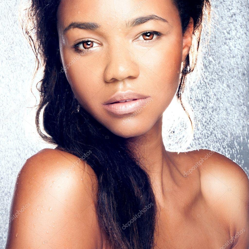 Beauty portrait of sensual woman