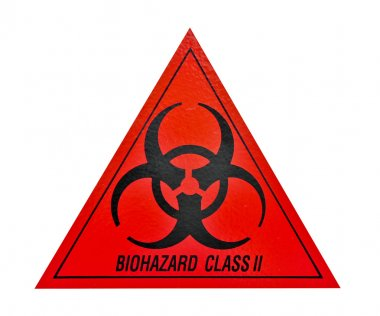 Biohazard class ii symbol sign of biological threat alert, black