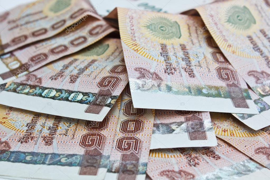 Thai money background.