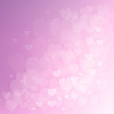 Abstract hearts lights