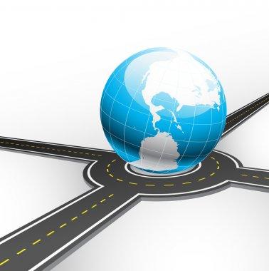 Road and globe