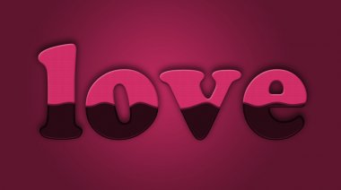 Valentine's day background with Love inscription stock vector