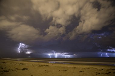 Electric storm in the beach
