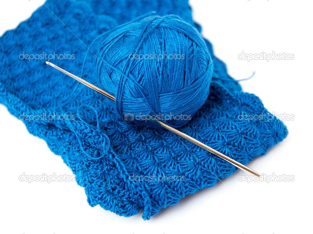 Blue Yarn Ball And Crochet Hook Stock Photo Karissaa 41560491