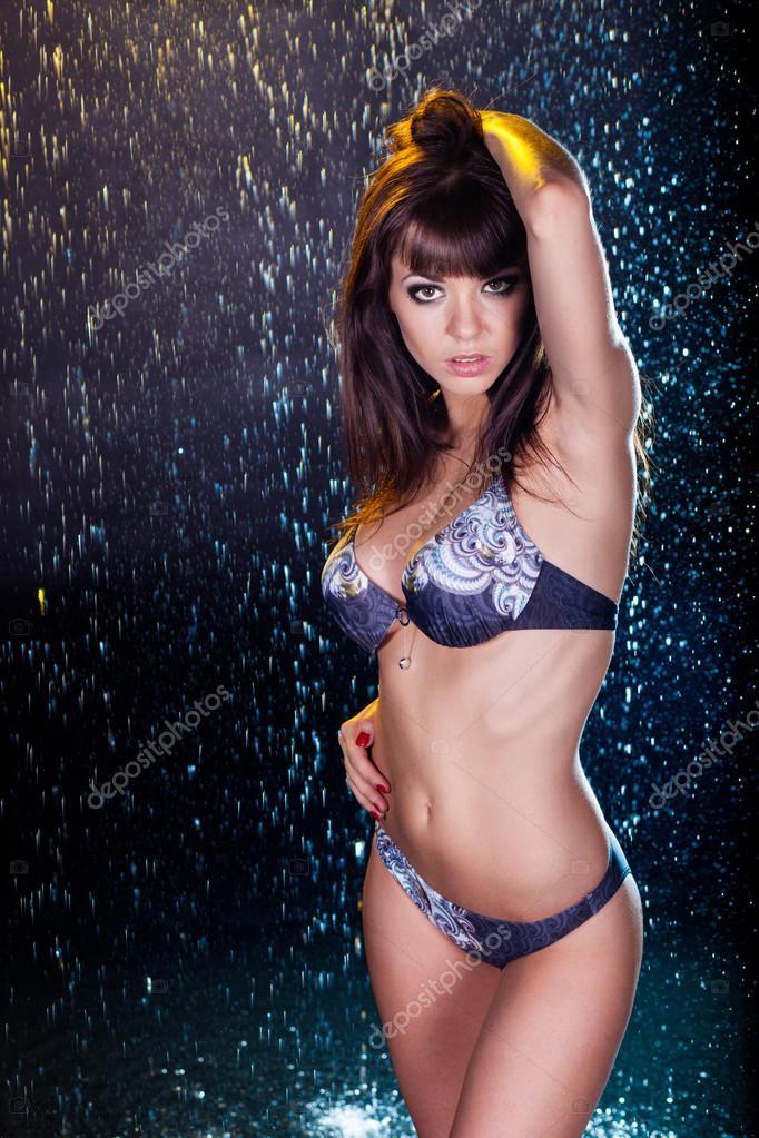 sexy Mädchen Bikini Titten