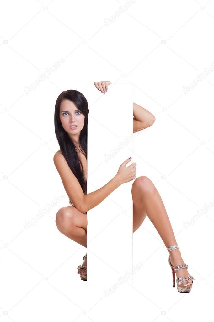 Chica Sexy Desnuda Con Tableta Blanca Fotos De Stock Kopitin