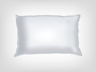 Clean white pillow mockup