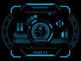 futuristické uživatelské rozhraní hud