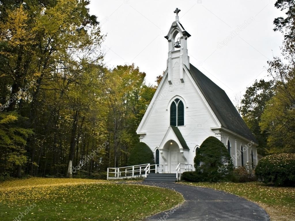 Country church in fall color