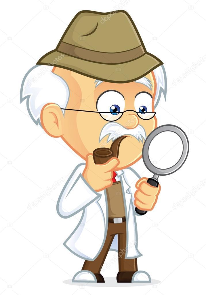 Professore detective — vettoriali stock sundatoon