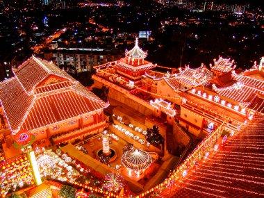 buddhist temple on chinese new year celebration