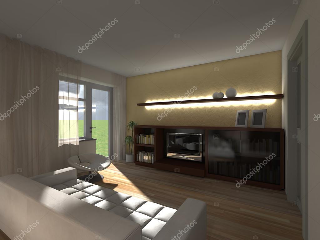 donkere woonkamer foto van belskih