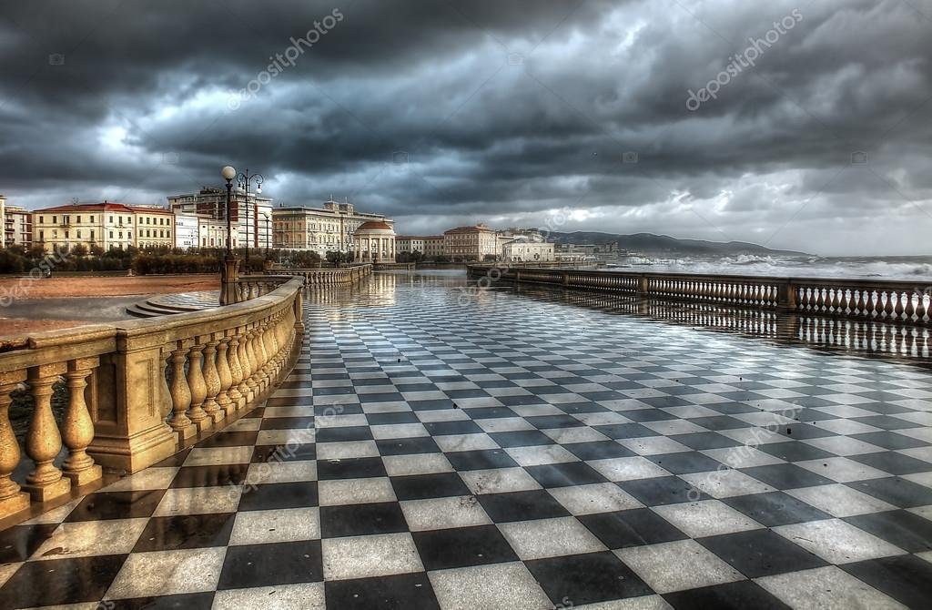 Terrazza Mascagni Livorno HDR — Foto Stock © alexgen #39999995