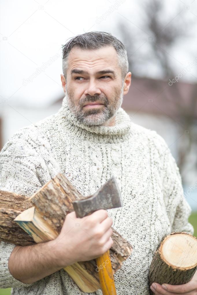 Handsome mature man outdoor portrait