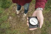 Fotografie ruka držící kompas