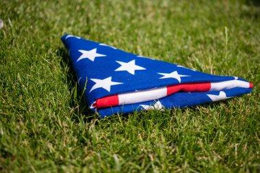 folded United States flag