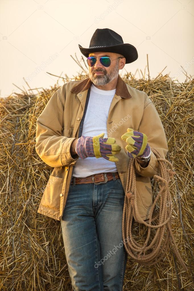 Western cowboy style man