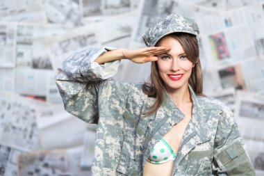 Pinup army girl