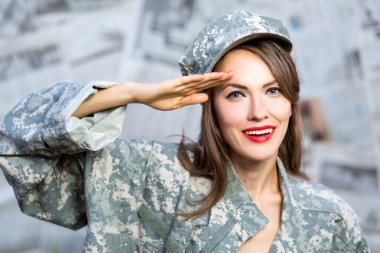 Army military girl