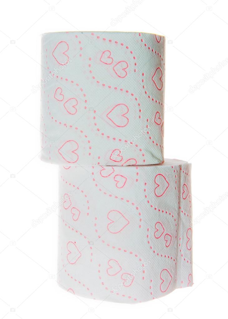 WC Papierrollen mit Herz-Muster — Stockfoto © liorpt #41489395