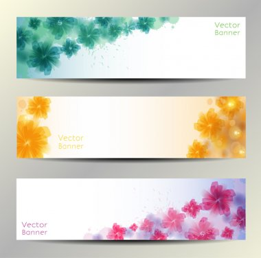 Abstract Flower Vector Background. Brochure Template. Banner. eps 10