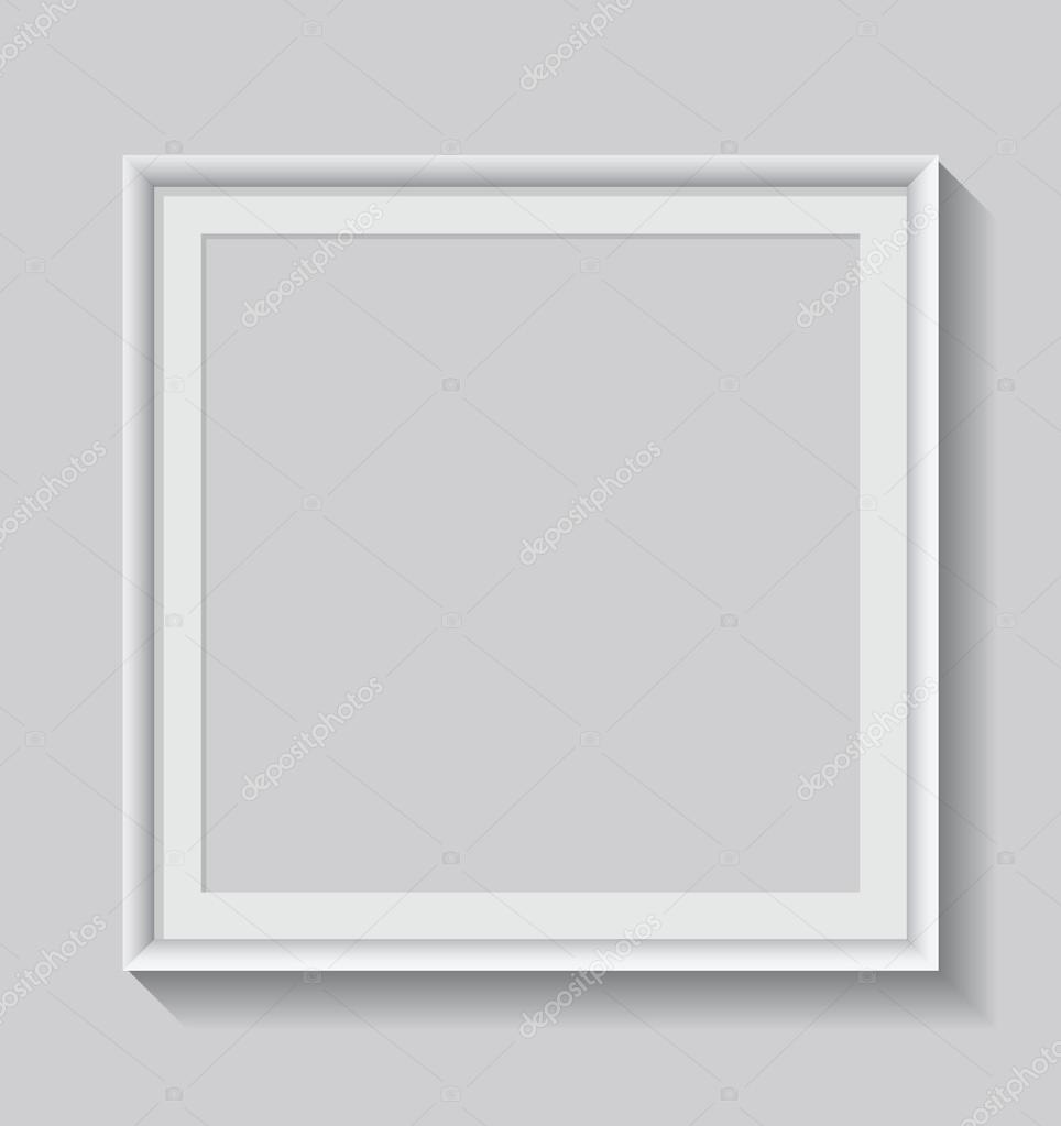 marco blanco en blanco — Archivo Imágenes Vectoriales © s_amado ...