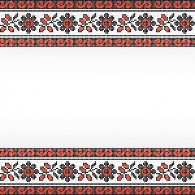 Embroidered background in folk style