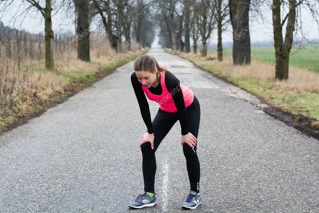 tired runner girl � stock photo 169 mooseshop 41546725