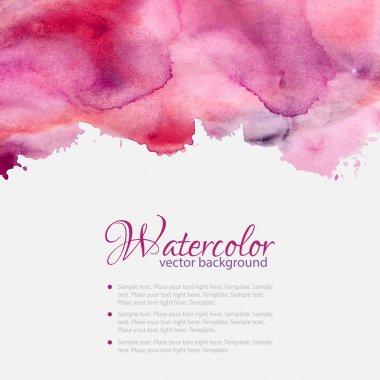 Pink watercolor blots pattern top frame
