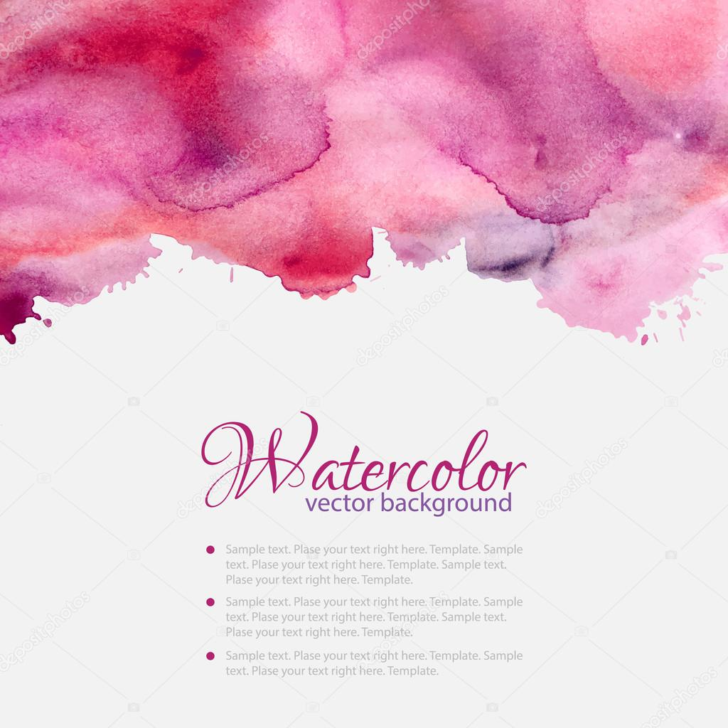 Pink watercolor blots pattern top frame