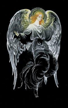 Beautiful hand drawn angel