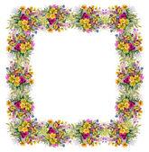 Fotografie Aquarell floral frame