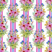 Fotografie Echinacea and cornflowers pattern