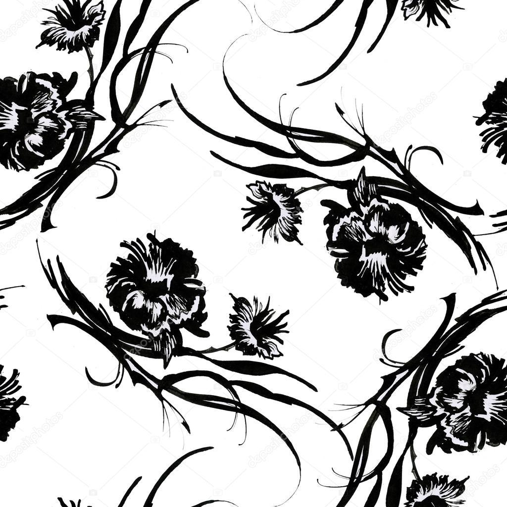 Dessin Fleurs Noir Photographie Kostan Proff 48783873