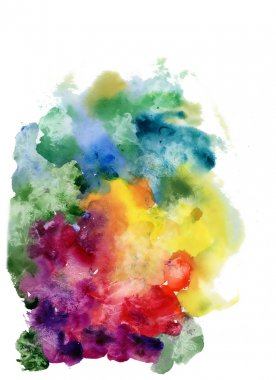 Color watercolor abstract background stock vector