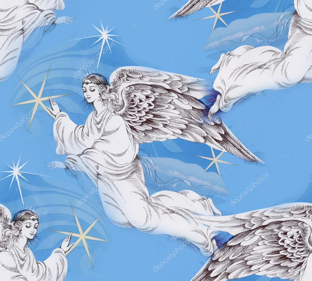 ángeles En El Cielo De Navidad Fotos De Stock Kostan Proff 51692293