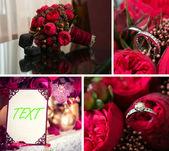 collage di decorazioni di nozze immagini