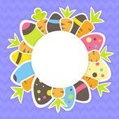 Velikonoční mrkev a vejce vzorek na fialová