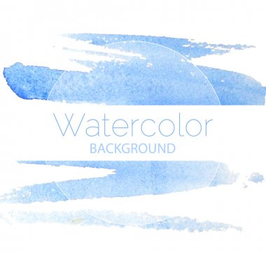 Blue watercolor background blue text