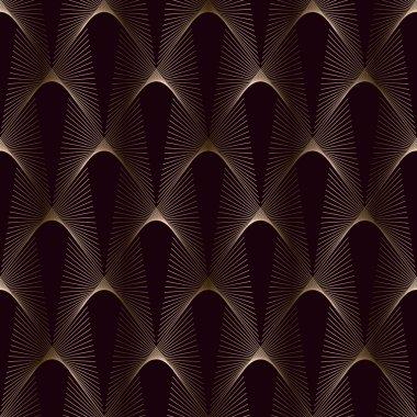 Seamless texture  golden line.