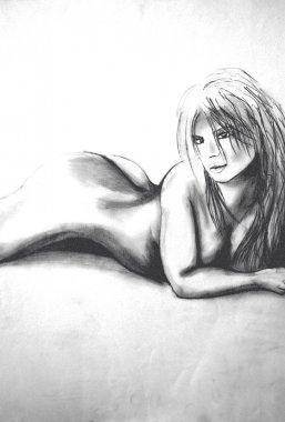 nude woman lying