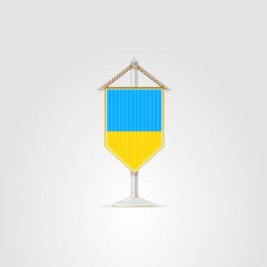 Illustration of national symbols of European countries. Ukraine.