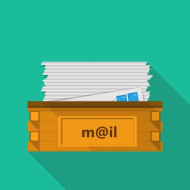 Flat icon for a mailbox for site and business