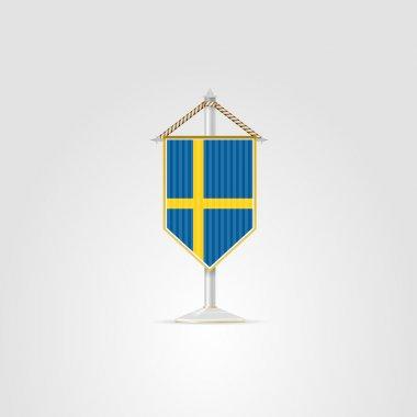 Illustration of national symbols of European countries. Sweden.