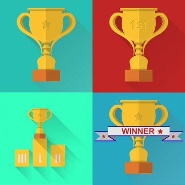 Vector icons for competition