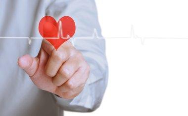 Medicine doctor working pushing heart stock vector