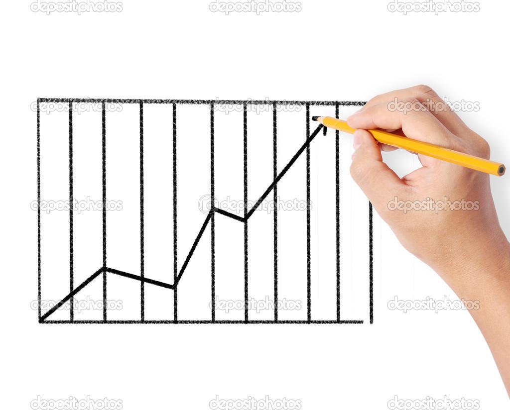 Männchen zeichnen ein Diagramm — Stockfoto © aeydenphumi #50688273