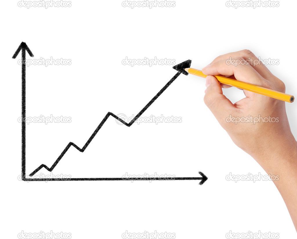 Männchen zeichnen ein Diagramm — Stockfoto © aeydenphumi #50689429