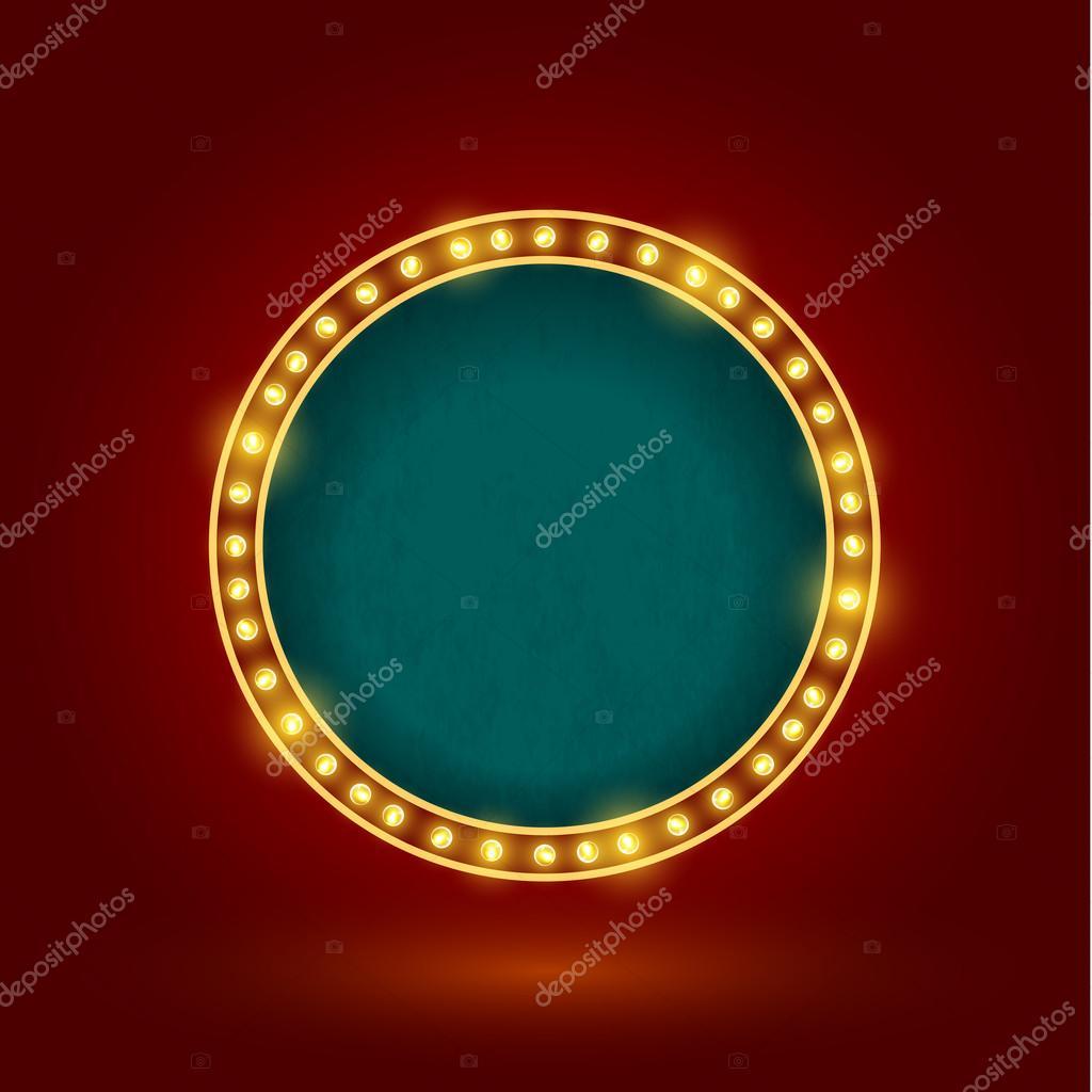 circle retro sign